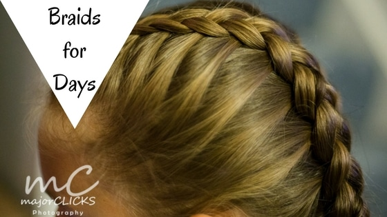 Dutch Braid on blond haired girl