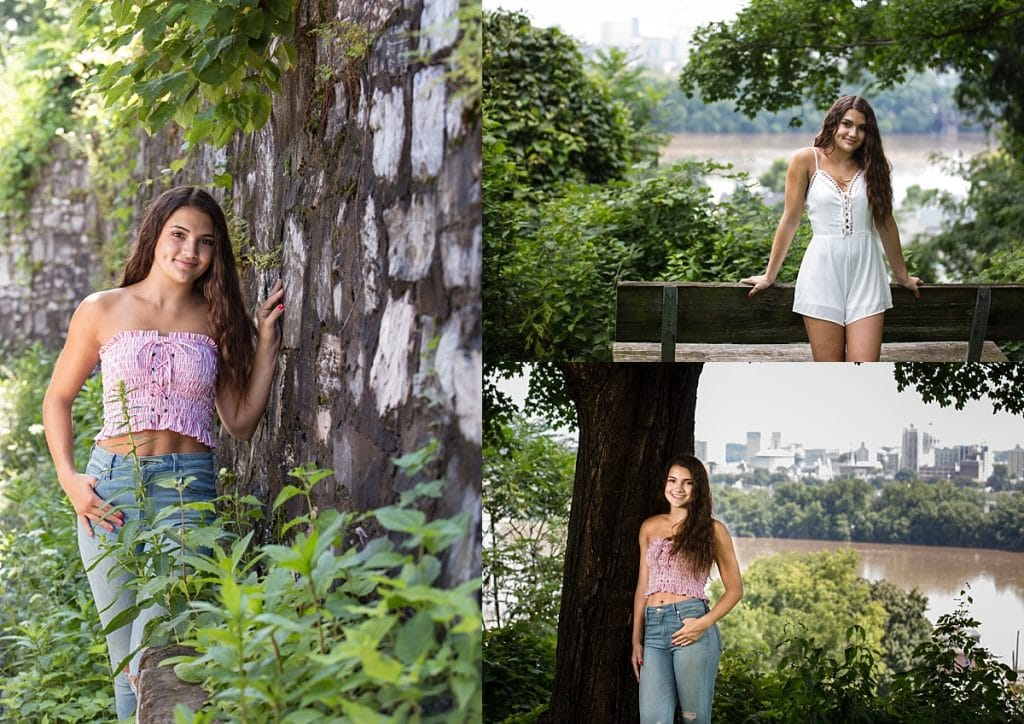 Senior girl in park for senior pictures